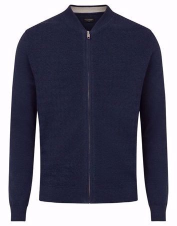 Bruun & Stengade-Vinnie - knit cardigan-Navy