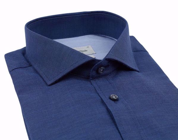 Bruun & Stengade-Rohe shirt- slimfit-Navy