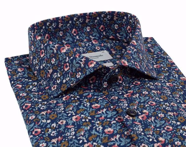 Bruun & Stengade-Verner shirt- slimfit-Dark Blue