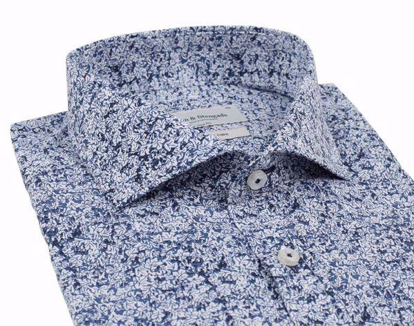 Bruun & Stengade-Isamu shirt- slimfit-Blue