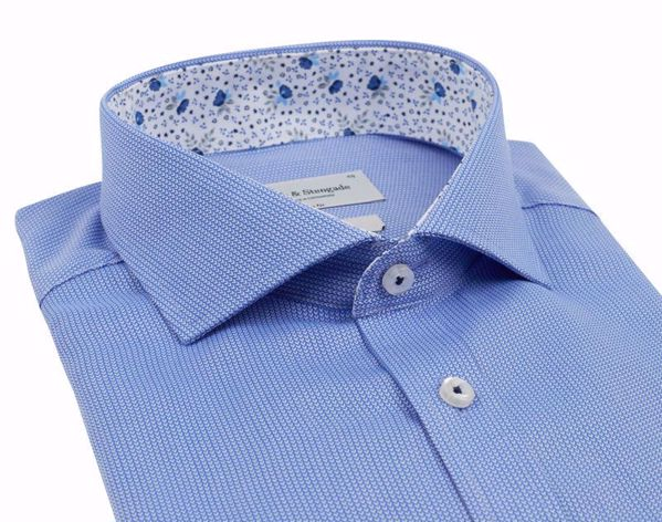 Bruun & Stengade-Arne shirt- slimfit-Blue