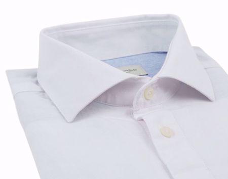 Bruun & Stengade-Watt shirt- lin- slimfit-White