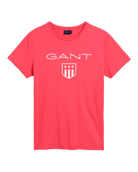 Gant-O1. PRINTED GANT SHIELD SS T-SHIRT-WATERMELON RED