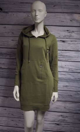 JUNE HOOD DRESS - Martini Olive