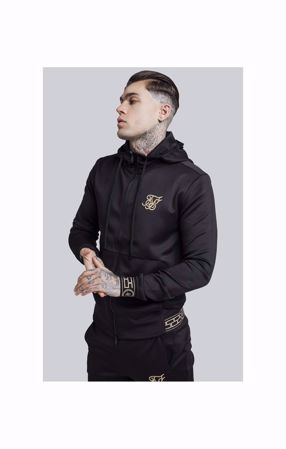 "SIK SILK-CARTEL AGILITY ZIP THROUGH TRACK TOP €"" BLACK"
