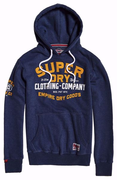 Superdry- Flagship hood-Blue Marl