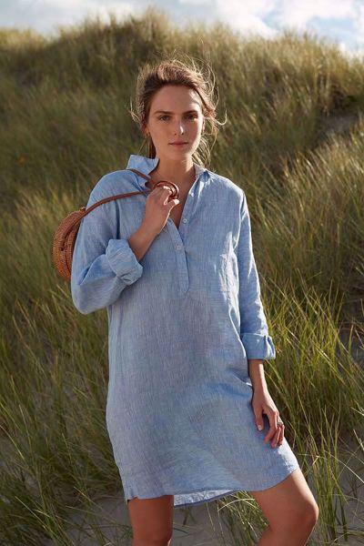 a199f32a Katrin Uri-Ultimate linen dress-Lt. blue - Britt-Ninas - Dame- og ...