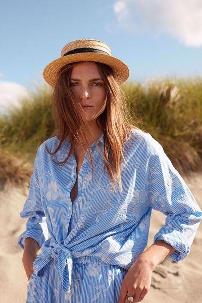 c003fa7d Katrin Uri-Provence loose shirt-Blue Stripe - Britt-Ninas - Dame- og ...