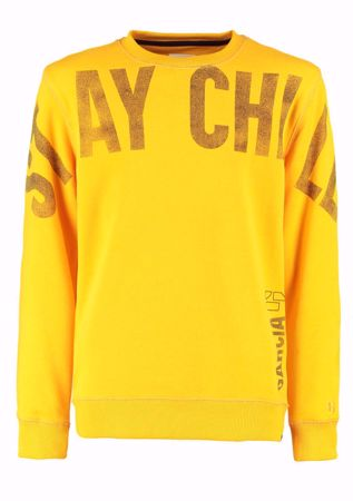 GARCIA KIDS- SWEATER WITH TEXT PRINT-YELLOW