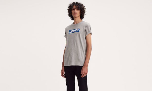 LEVI'S-GRAPHIC TEE-SSNL-BOXTAB-MIDTONE-HEATHER-GREY