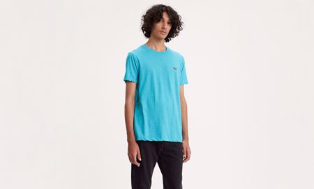 LEVI'S-SHORT SLEEVE ORIGINAL LOGO TEE-TRI-BLEND-+-PATCH-NORSE-BLUE