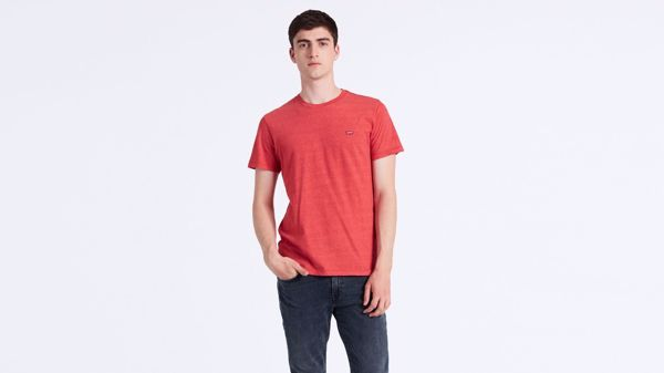 LEVI'S-SHORT SLEEVE ORIGINAL LOGO TEE-TRI-BLEND-+-PATCH-LYCHEE