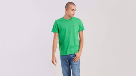 LEVI'S-SHORT SLEEVE ORIGINAL LOGO TEE-TRI-BLEND-+-PATCH-JELLYBEAN