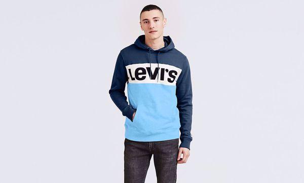 LEVI'S-COLORBLOCK HOODIE-COLORBLOCK-DRESS-BLUES