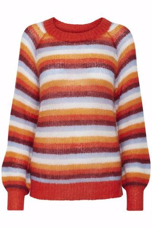 B.Young-BYMIRA STRIPE JUMPER-Spicy Red Combi