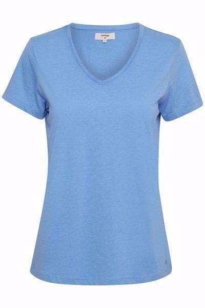 Cream-Naia Tshirt-Provence Blue
