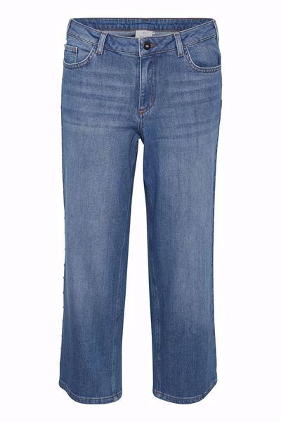 Kaffe-KAlida Cropped Jeans-MediumBlue Deni