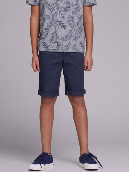 2d50503005b JACK&JONES JUNIOR-REGULAR FIT GUTTE CHINOSHORTS-NAVY-BLAZER