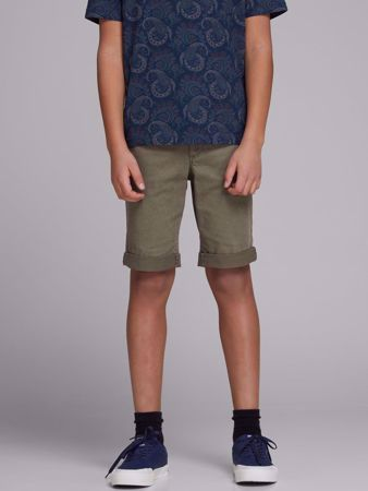JACK&JONES JUNIOR -REGULAR FIT GUTTE CHINOSHORTS-OLIVE-NIGHT