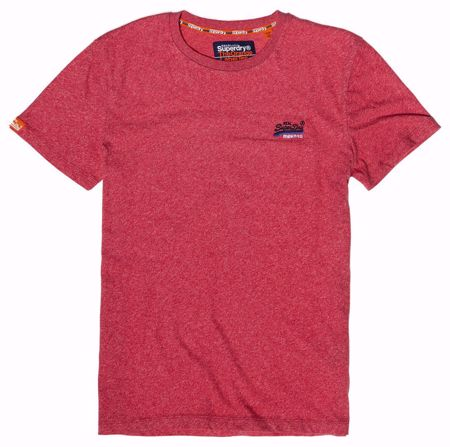 Superdry-Orange label  tee-Red Grit