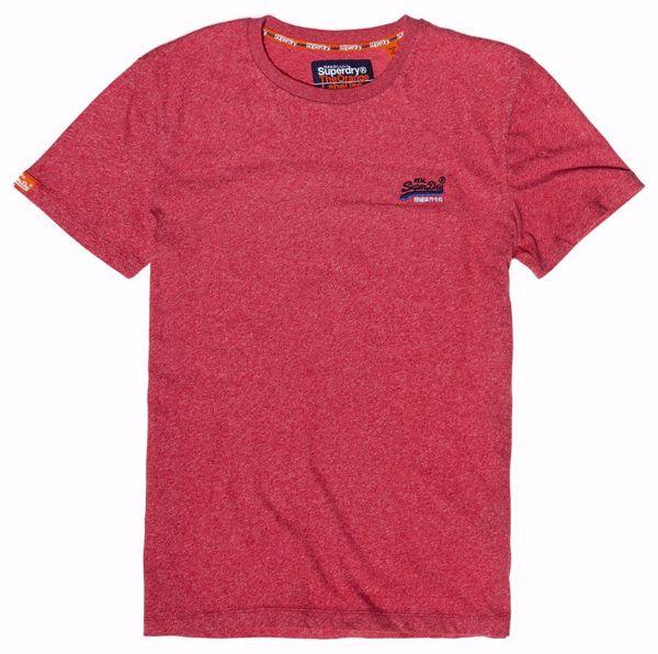 Superdry-Orange label  tee-Red Grit