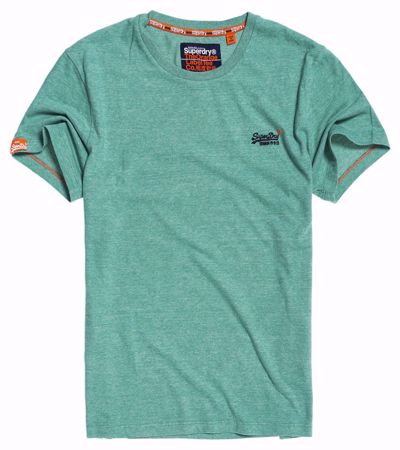Superdry- orange label tee- green feeder