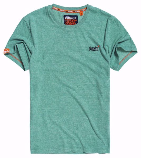 Superdry- orange label tee- green feeder