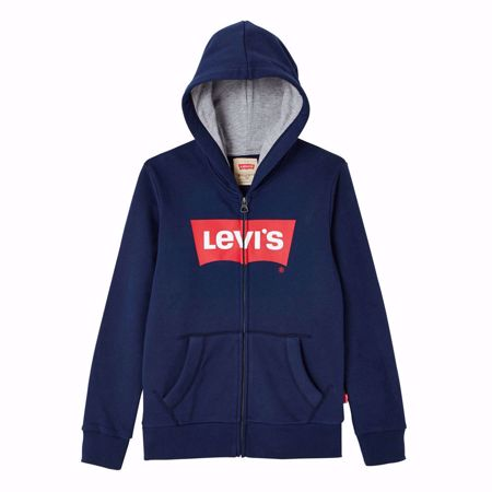 LEVI'S KIDS-SWEAT  ZIP BATWING -BLUE