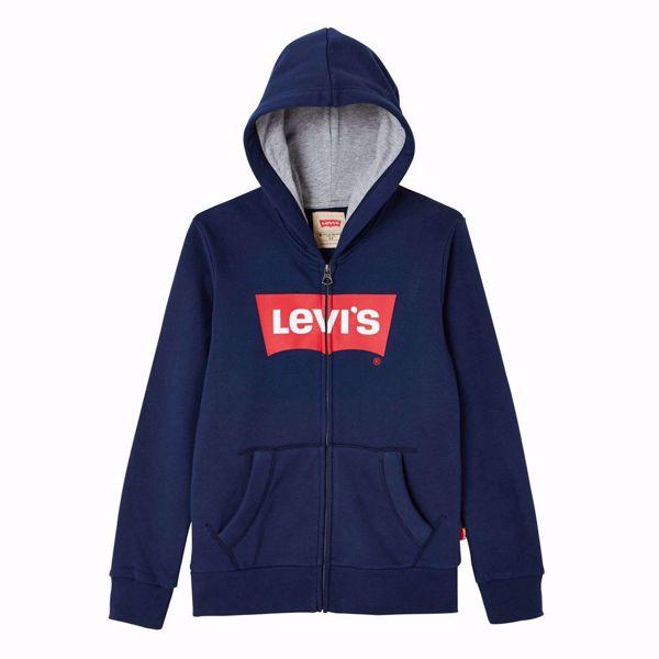 LEVI'S KIDS-SWEAT  ZIP BATWING -BLUE