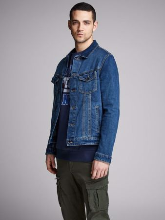 ALVIN JEANS Jakke - Blue denim