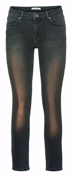 Monari-Jeanshose im Five-Pocket-Style mit Lackdruckbeschichtung-black