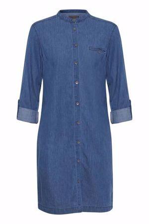 Fransa-FRcoshirt  Shirt-Clear blue denim