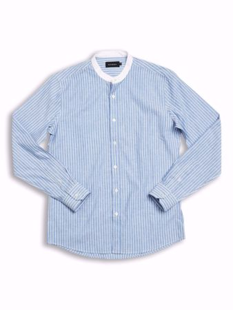 GABBA-KURT SHIRT-BLUE-STRIPE