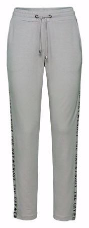 Monari-Hose im Jogging-Stil mit Lackschrift und Kettendetails-greige