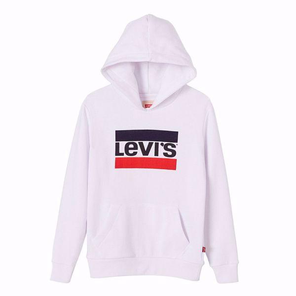LEVI'S KIDS-SWEAT HERO LOGO -BRILLANT-WHITE
