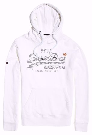 Superdry - Hvit hettegenser / hoodie - Optic Montana