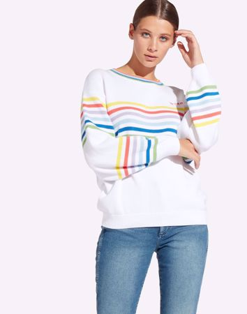 WRANGLER-RAINBOW KNIT-WHITE