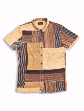 GABBA-FELIX S/S SHIRT-RUSTY-BROWN