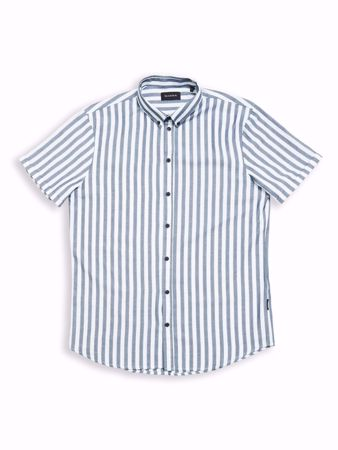 GABBA-BROOKS STRIPE S/S SHIRT-NAVY-STRIPE