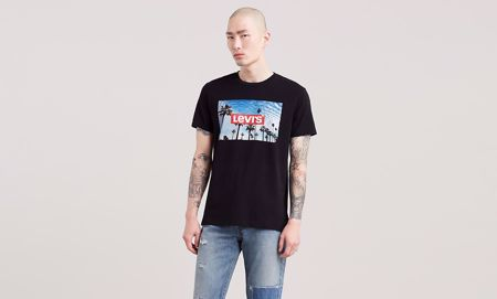 LEVI'S-CLASSIC GRAPHIC TEE- Photo print -BLACK