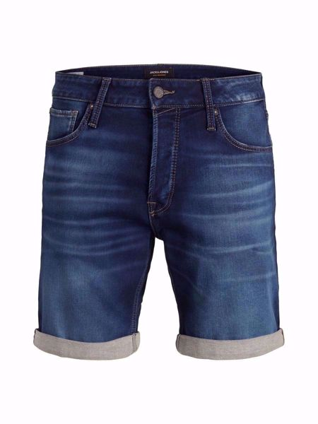 "JACK&JONES- JEANS ""jog"" SHORTS-BLUE-DENIM"
