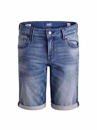 JACK&JONES-BOYS REGULAR FIT -JOG DENIM SHORTS-BLUE-DENIM