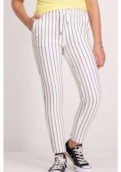 GARCIA KIDS-WHITE STRIPED PANTS-WHITE