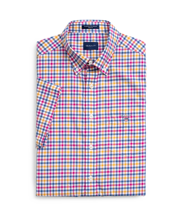 Gant-THE B-CLOTH 3COL GINGHAM REG SS B-POSEIDON BLUE