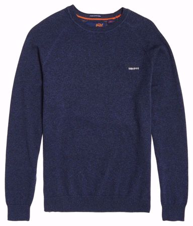 Superdry- Cotton crew-Blue Grindle
