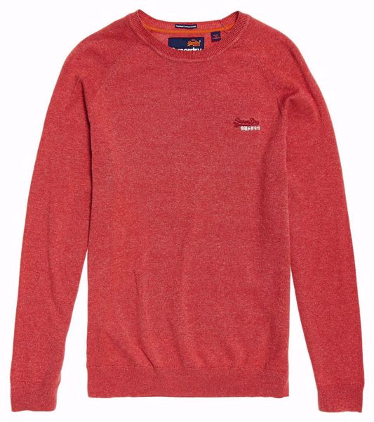 Superdry- Cotton crew - Red grit