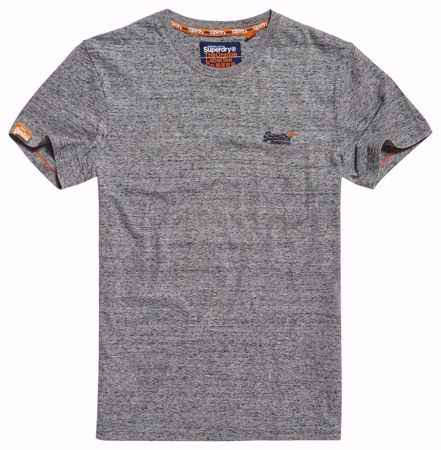 Superdry-basic t-shirt -Flint Steel