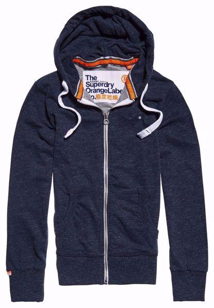 Superdry - Mørkeblå hettegenser / hoodie - Orange Label - Grit Indigo Navy