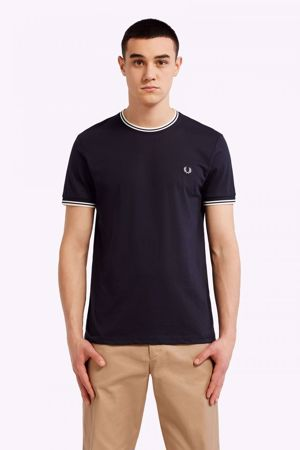 FRED PERRY-TWIN TIPPED T-SHIRT-NAVY