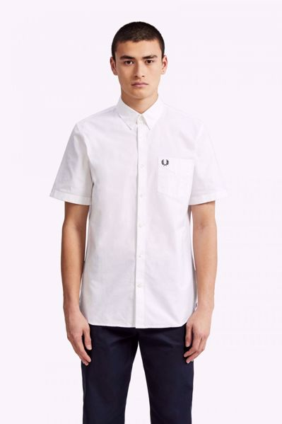 FRED PERRY-CLASSIC OXFORD SHIRT-WHITE